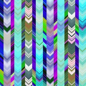 CRAZY CHEVRONS ARROWS TURQUOISE OCEAN SEA