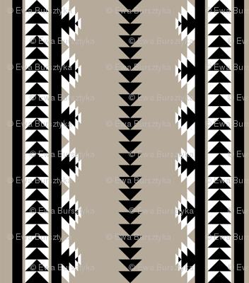 aztec stripes - black & gray (rotated)