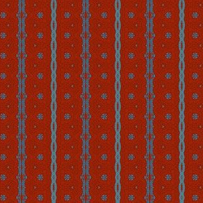 Dark Red and Blue Sophisticated Stripe