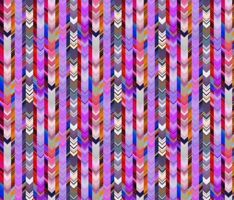 CRAZY CHEVRONS ARROWS PURPLE AUTUMN fabric by paysmage on Spoonflower - custom fabric