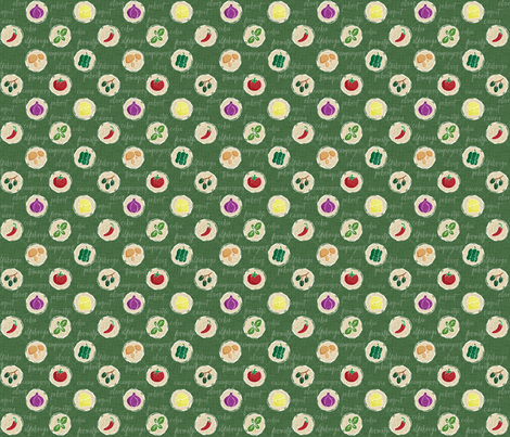 Deconstruction Pizza fabric by mia_valdez on Spoonflower - custom fabric