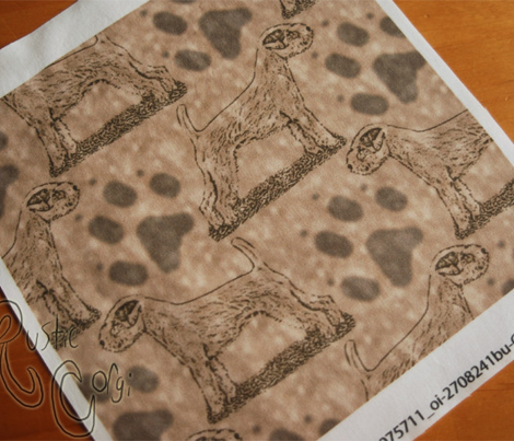 Posing Parson Russell Terrier stamp - brown