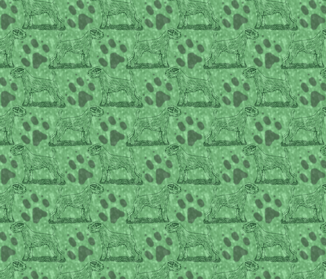 Posing Parson Russell Terrier stamp - green fabric by rusticcorgi on Spoonflower - custom fabric