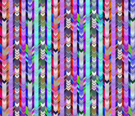 CRAZY CHEVRONS ARROWS BRIGHT BICOLOR Purple autumn and turquoise sea fabric by paysmage on Spoonflower - custom fabric
