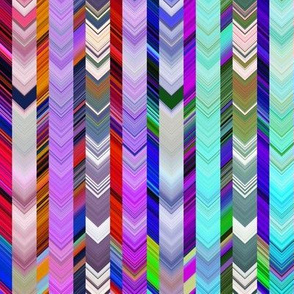 CRAZY CHEVRONS ARROWS BRIGHT BICOLOR Purple autumn and turquoise sea