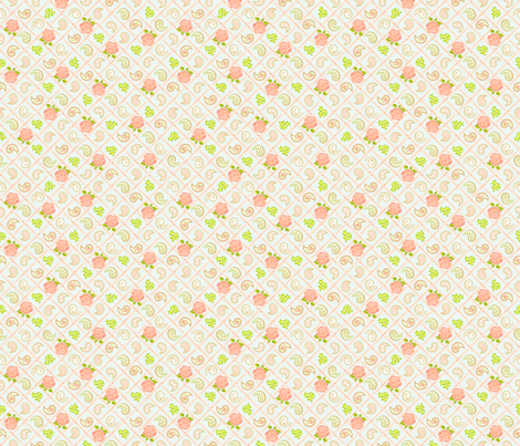 Paisley Rose Lattice fabric by blairfully_made on Spoonflower - custom fabric