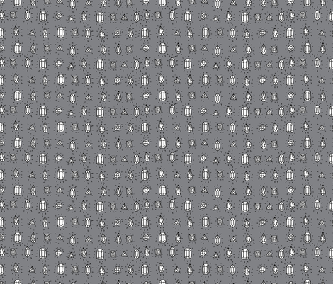 Sketchy Gems fabric by marzipress on Spoonflower - custom fabric