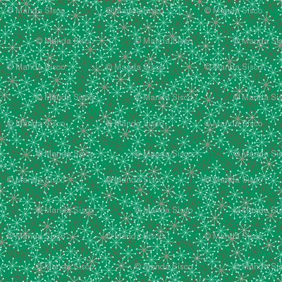 Atomic Snowflakes on Green