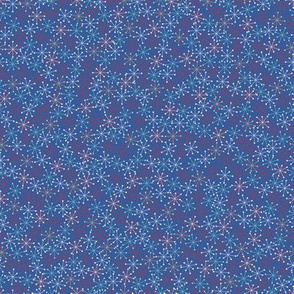 Atomic Snowflakes Blue