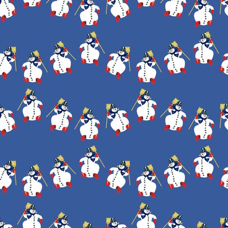 Frosty Parade Blue fabric by halloweenhomemaker on Spoonflower - custom fabric