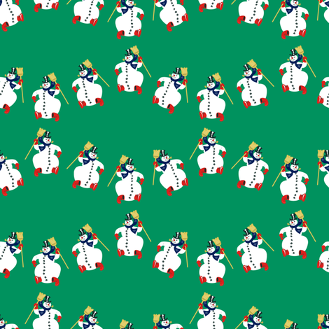 Frosty Parade Green fabric by halloweenhomemaker on Spoonflower - custom fabric