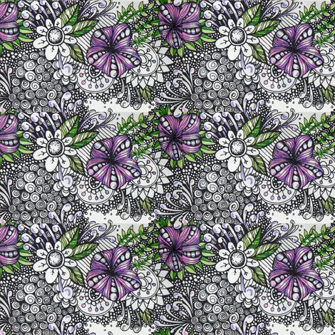 violet   fabric by fallingladies on Spoonflower - custom fabric