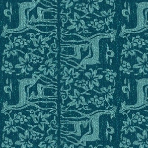New scarf-2deer-upside-down-verydkturqblk196-90-33-aquagreysweater5k-Adobe1998