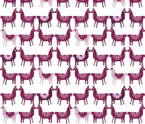 Llama Offset fabric by onelittleprintshop on Spoonflower - custom fabric