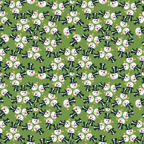 Kaleidofrosty Olive Green Fabric Mandasisco Spoonflower