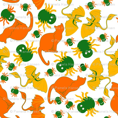candy corn cats and spiders small