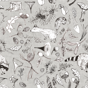 Forest Critters (grey)