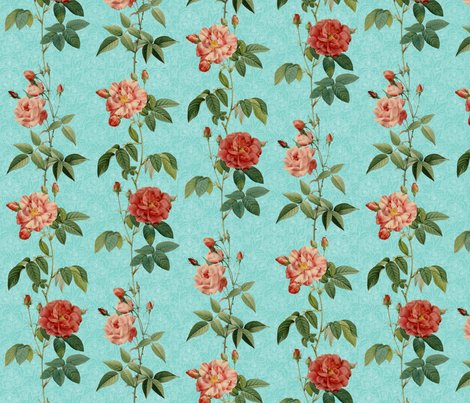 Rantique_roses_in_rows_on_blue_-_revised_-_vertical_shop_preview
