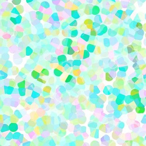 Confetti Pastel Greens and Pink