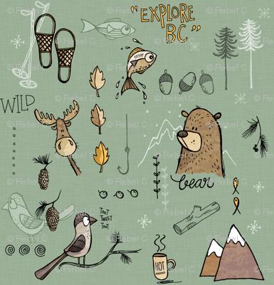 Explore BC Mountains - green