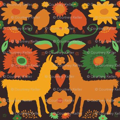 Llama BrightFolk Retro on dark