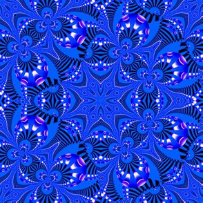 Blue and Purple Fractal Star Web