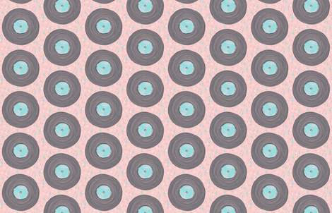 Vintage LPs by Friztin fabric by friztin on Spoonflower - custom fabric