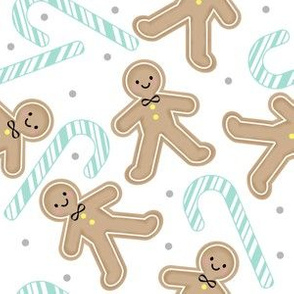 Gingerbread Boy with Mint Candycane