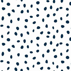 dalmatian dots navy blue