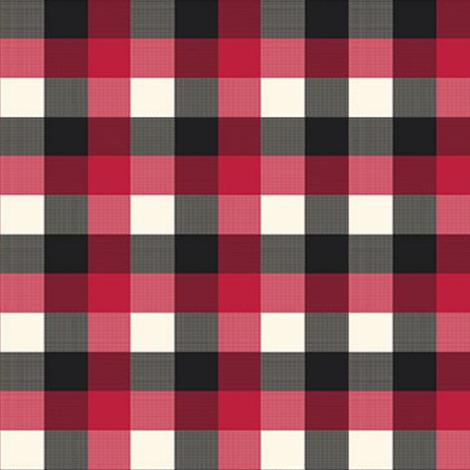 Buffalo Plaid black Red Grey Checker Lumberjack Flannel  fabric by bowdiva on Spoonflower - custom fabric