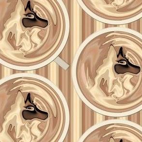 Latte Wolf, half drop