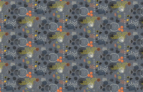 Orbiting Celestial Bodies by Friztin fabric by friztin on Spoonflower - custom fabric
