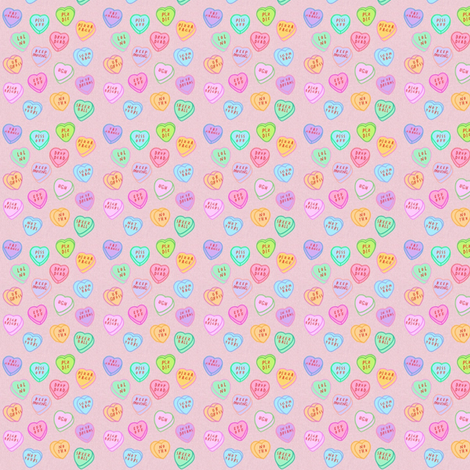 Anti Valentines fabric by lavender- on Spoonflower - custom fabric