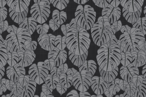Delicious Monster Mono Dark fabric by docious_designs_by_patricia_braune on Spoonflower - custom fabric