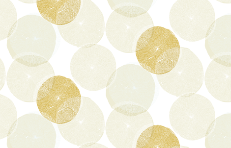 Huge Round Flowers M+M Ocher Quinoa by Friztin fabric by friztin on Spoonflower - custom fabric