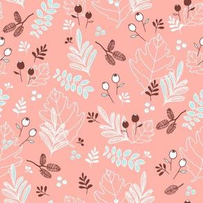 Snowberries & Little Cones - blush