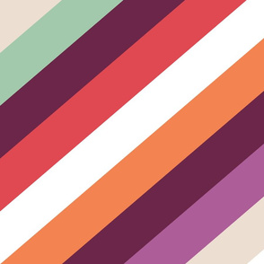 Retro Modern Diagonal Stripes by Friztin