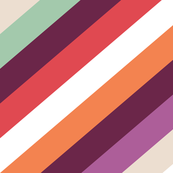 Retro Modern Diagonal Stripes by Friztin