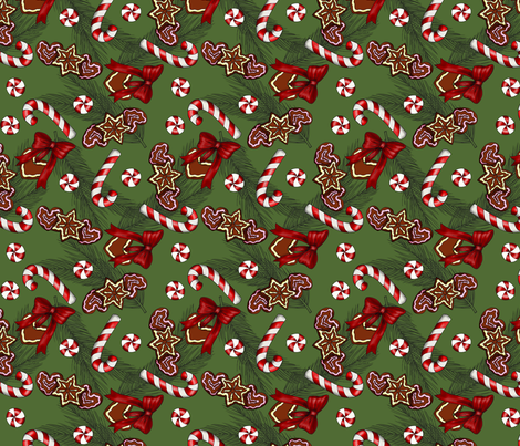 Christmas sweets-tradtitional fabric by sansdesign on Spoonflower - custom fabric