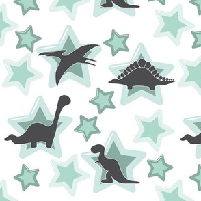 Baby dinos with minty  stars