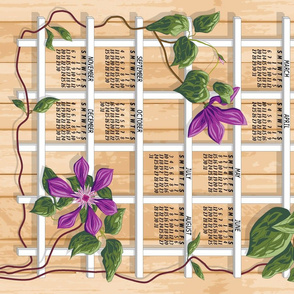 2016 Lattice Clematis Calendar
