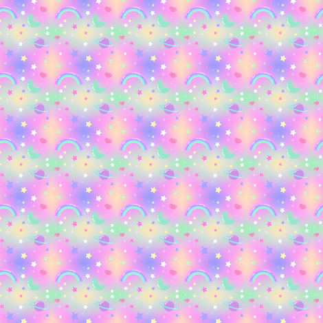 Pastel galaxy giftwrap lavender spoonflower for Pastel galaxy fabric
