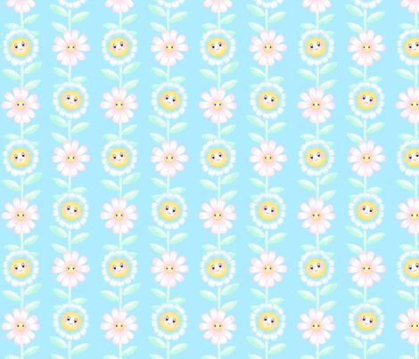 Happy Flowers fabric by elliewhittaker on Spoonflower - custom fabric