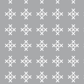 Light Gray Cross-stitch Pluses