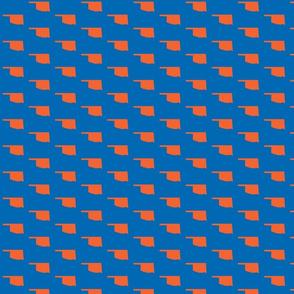 Oklahoma Tiled - Blue orange
