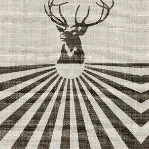 Stag and the rising sun