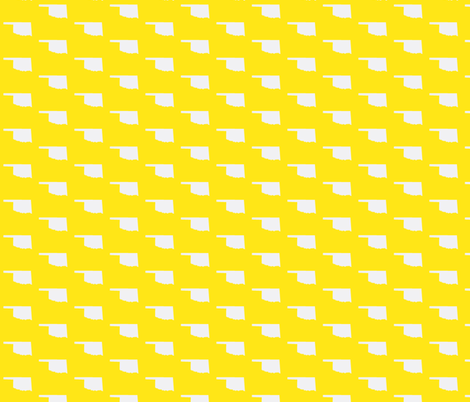 Oklahoma Tiled - Yellow fabric by wardandcedar on Spoonflower - custom fabric
