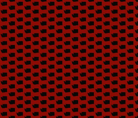 Washington Tiled - Red fabric by wardandcedar on Spoonflower - custom fabric