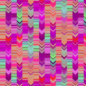 CRAZY CHEVRONS ARROWS WISE AND BRIGHT ANCIENT WISDOM PINK