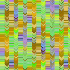 CRAZY CHEVRONS ARROWS WISE AND BRIGHT ANCIENT WISDOM GREEN